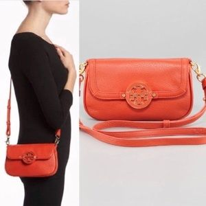 Tory Burch Orange Mini Amanda Crossbody